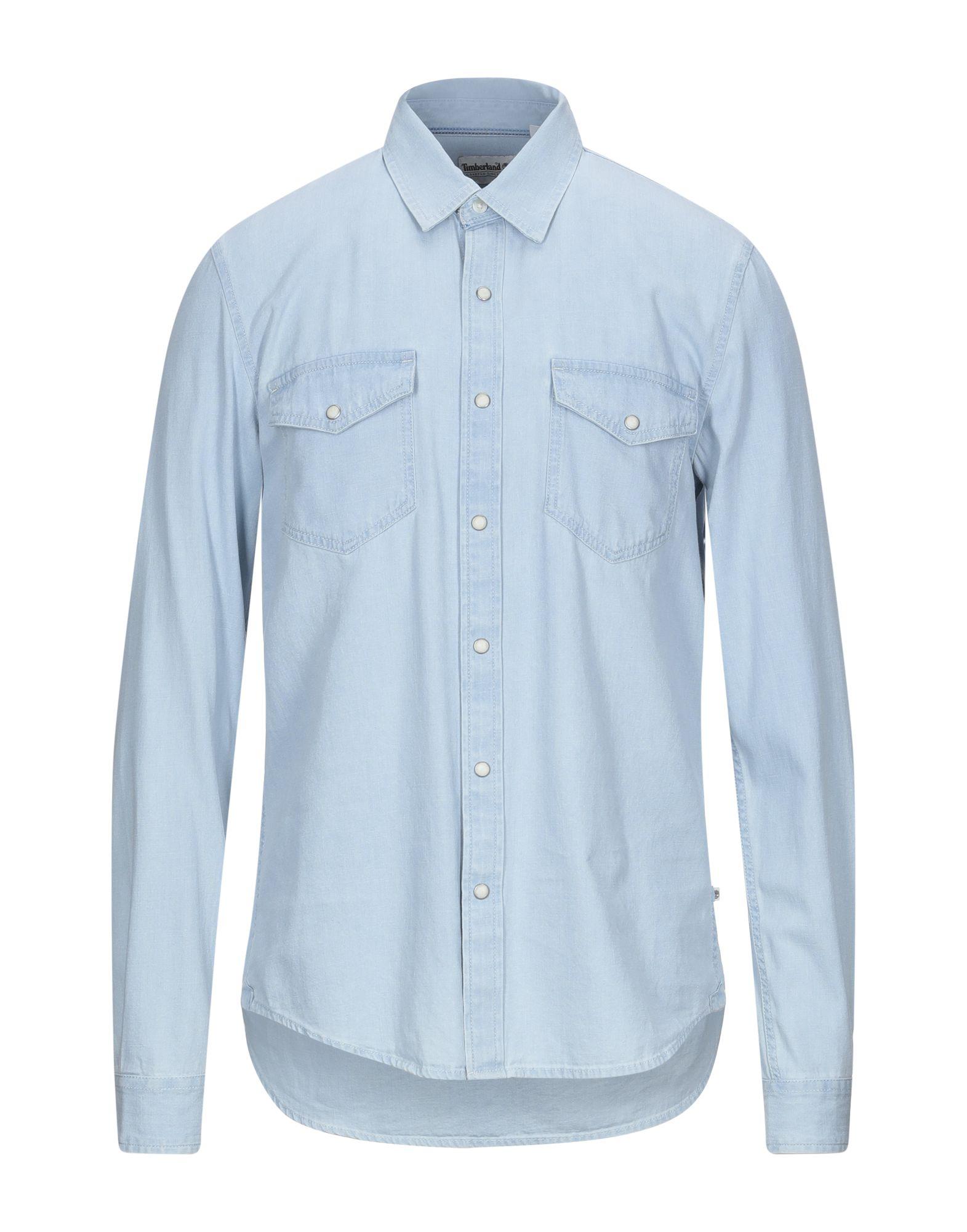 TIMBERLAND Denim shirts - Item 42814981