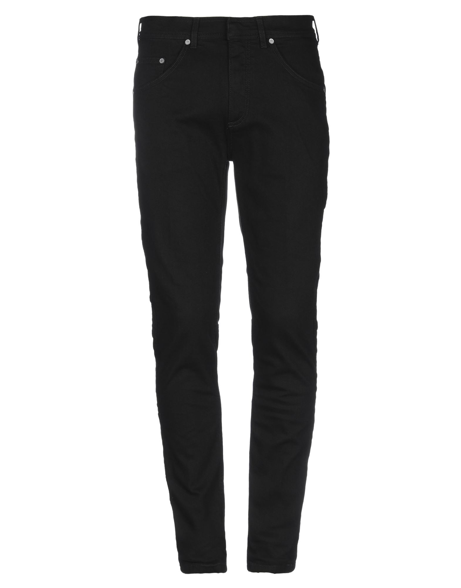 NEIL BARRETT Jeans. denim, logo, solid color, colored wash, mid rise, front closure, button, zip, multipockets, stretch, large sized. 98% Cotton, 2% Elastane