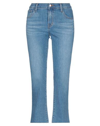 Джинсовые брюки-капри J BRAND. Цвет: синий