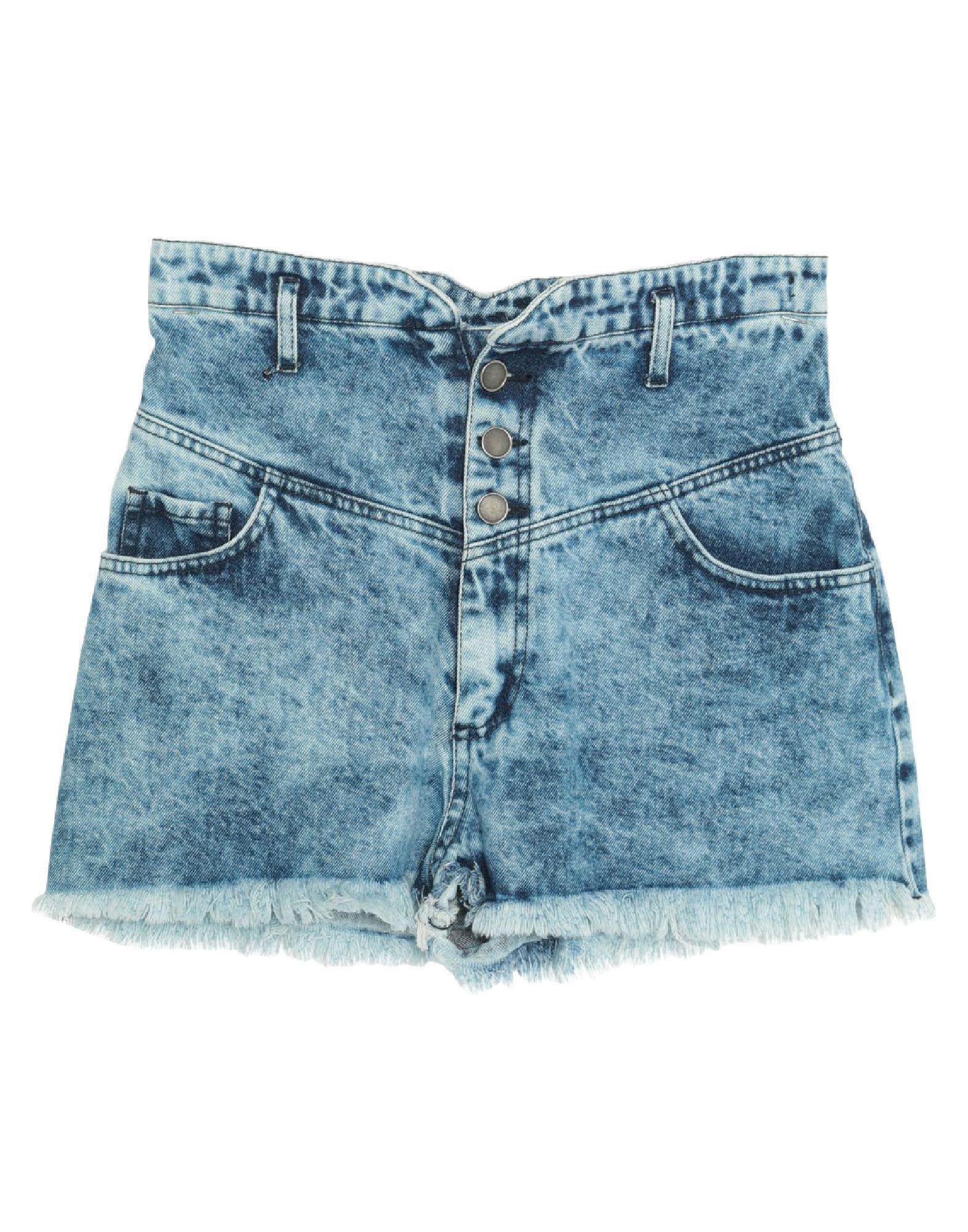 Actualee Denim Shorts In Blue