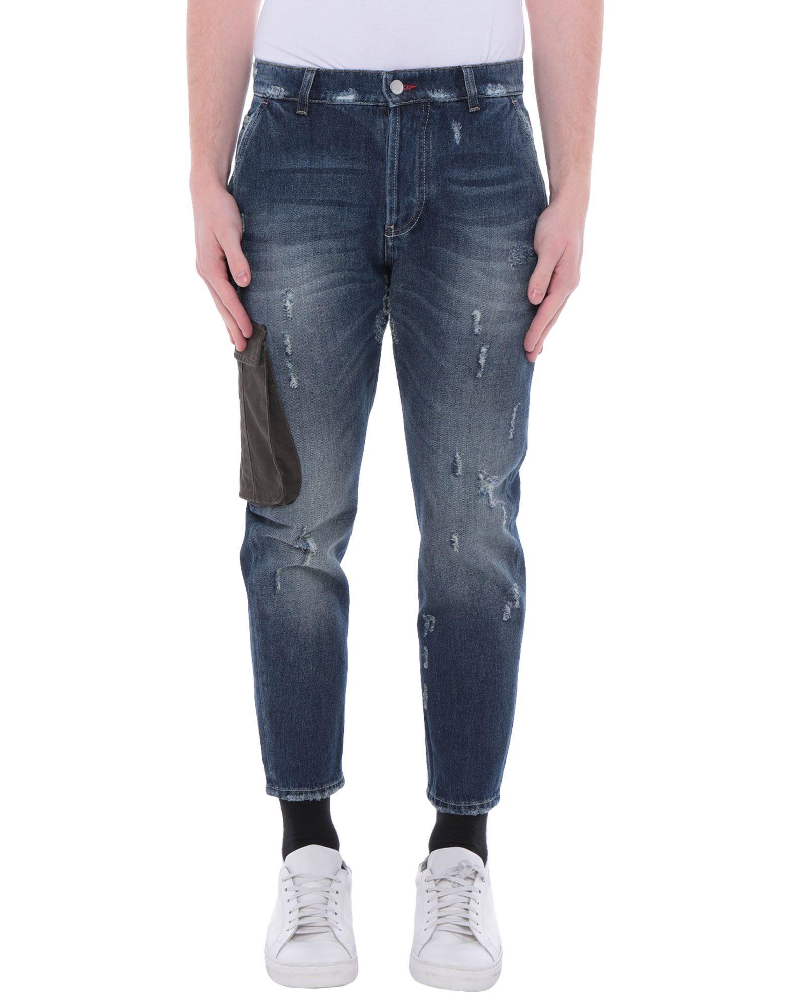 《セール開催中》DANIELE ALESSANDRINI メンズ デニムカプリパンツ ブルー 29 コットン 100%