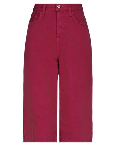 Джинсовые брюки-капри ROŸ ROGER'S. Цвет: пурпурный