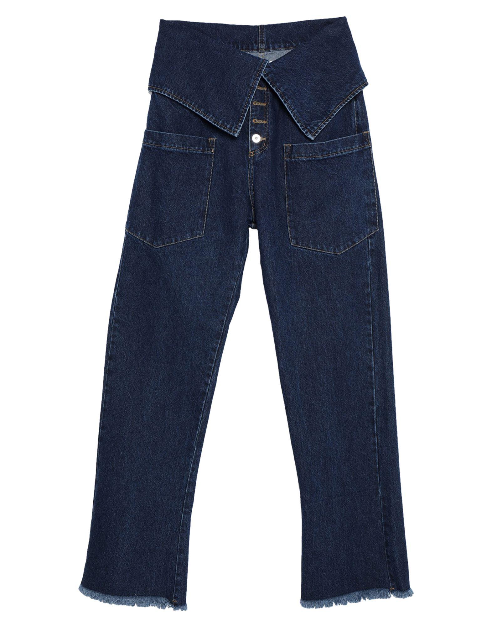 MARQUES' ALMEIDA Джинсовые брюки marques almeida x yoox толстовка