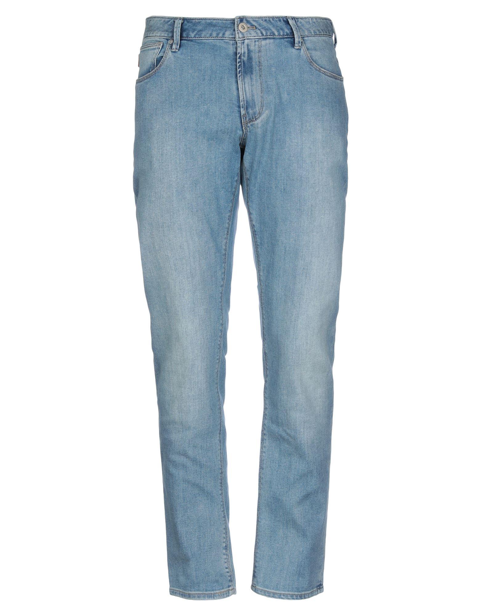 《セール開催中》EMPORIO ARMANI メンズ ジーンズ ブルー 32W-32L コットン 99% / ポリウレタン 1%