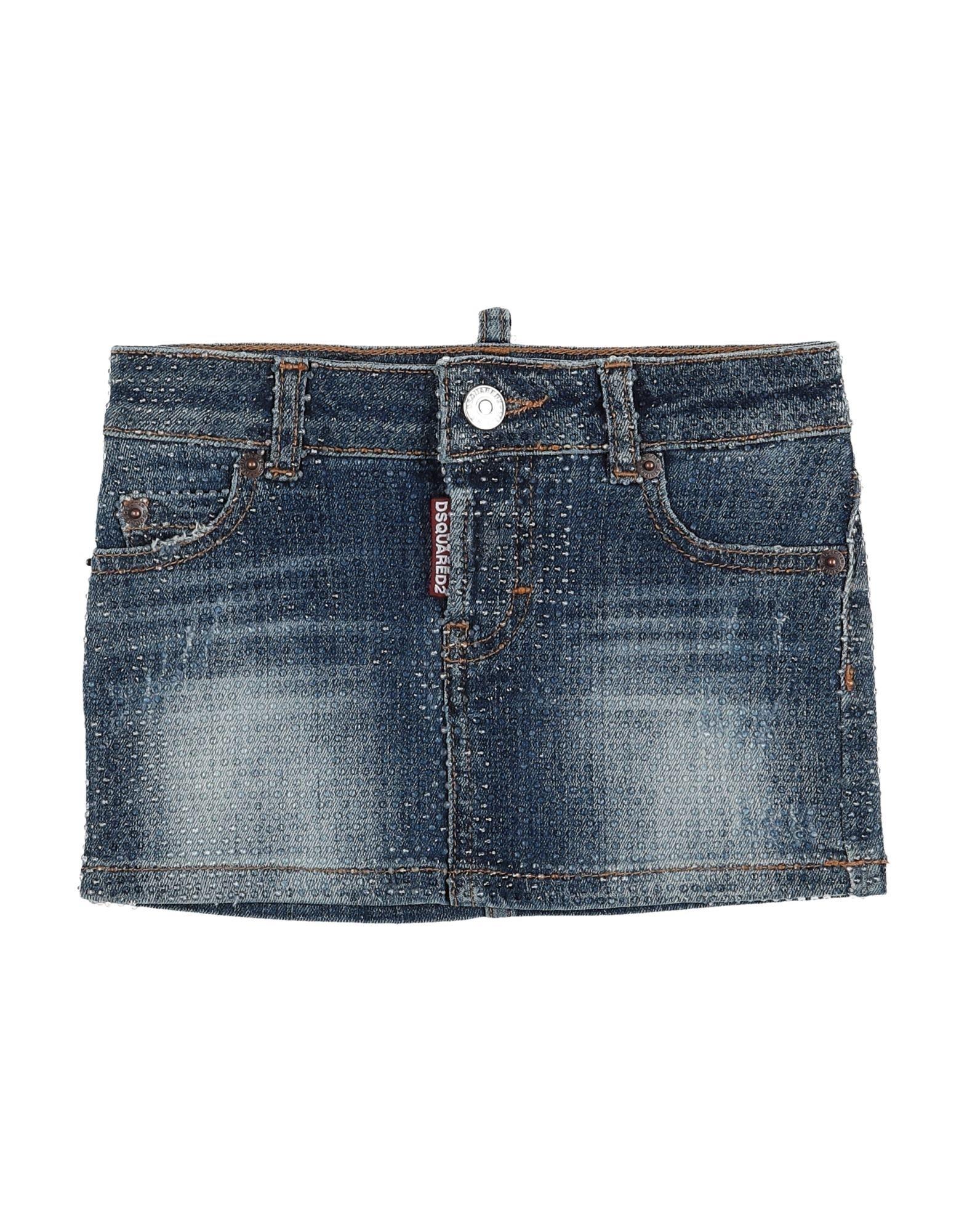 《セール開催中》DSQUARED2 ガールズ 3-8 歳 デニムスカート ブルー 4 コットン 98% / ポリウレタン 2% / ガラス