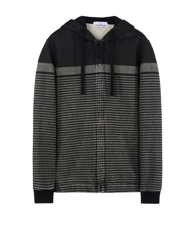 STONE ISLAND Zip sweatshirt 644X6 STONE ISLAND MARINA_CORROSION PRINT
