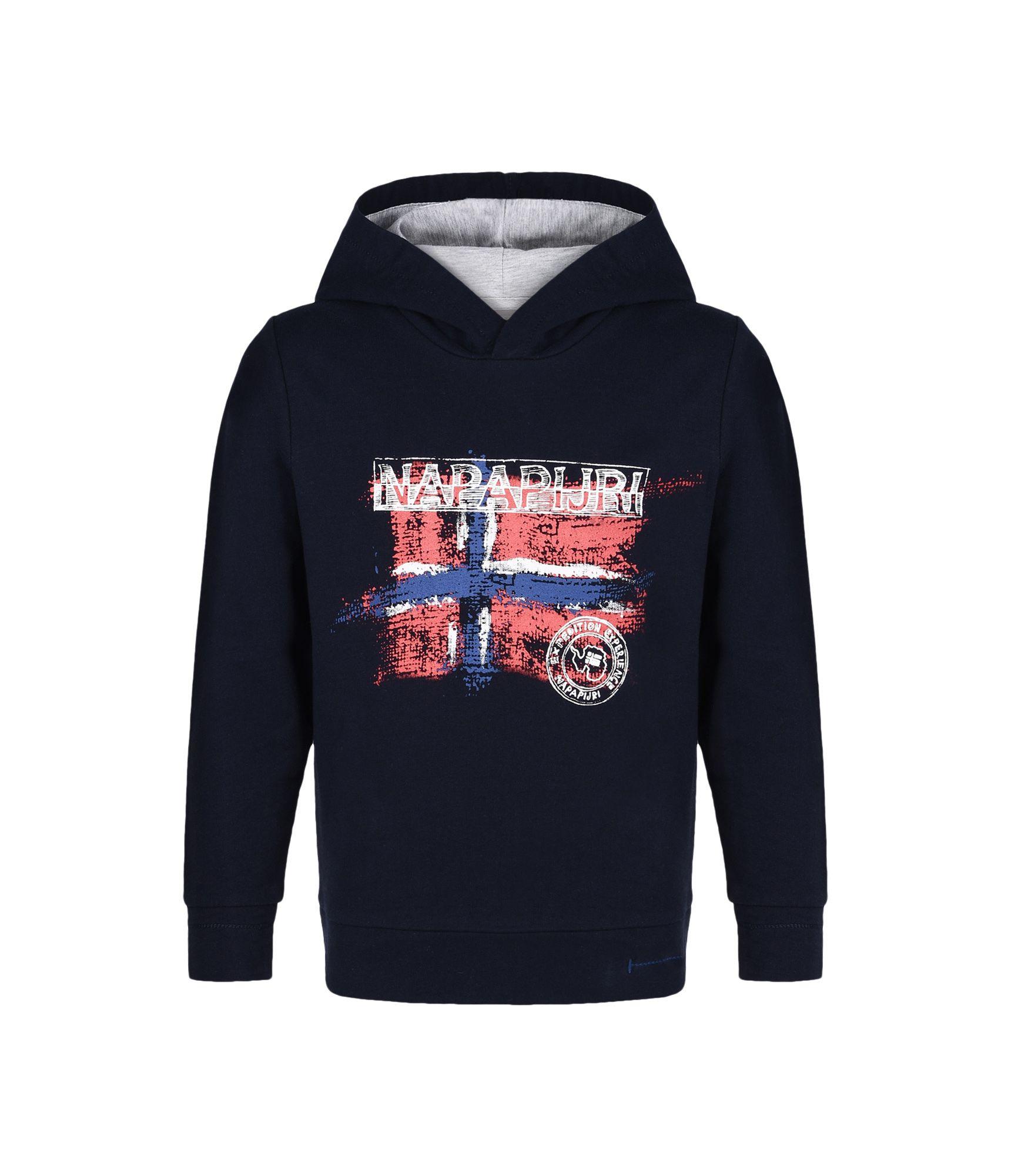Artikel klicken und genauer betrachten! - Kapuzensweatshirt Kontrastfarbenes Jersey-Kapuzenfutter Kontrastnahtdetails Grafikelemente | im Online Shop kaufen