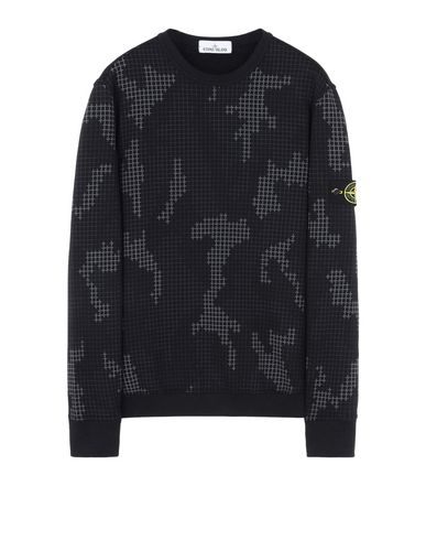 STONE ISLAND Sweatshirt 635E2 SI CHECK GRID CAMO