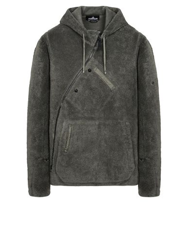 60306 HOODED SWEATSHIRT WITH DROP POCKETS AND ARTICULATION TUNNELS (TERRY COTTON FLEECE) GARMENT DYED