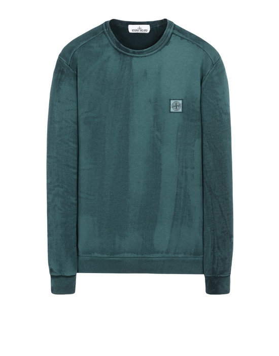 STONE ISLAND Толстовка 62365 HAND BRUSHED COLOUR TREATMENT