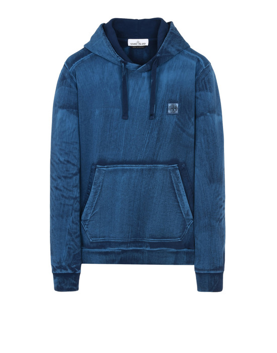 STONE ISLAND Sweatshirt 62265 HAND BRUSHED COLOR TREATMENT