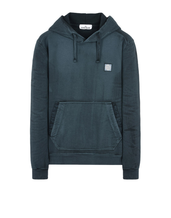 スウェット 62265 HAND BRUSHED COLOR TREATMENT STONE ISLAND - 0
