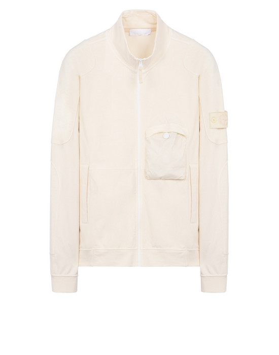 STONE ISLAND Zip sweatshirt 618F6 GHOST PIECE