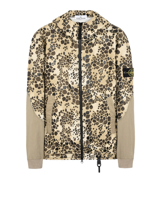 STONE ISLAND Zip sweatshirt 635E4 ALLIGATOR CAMO
