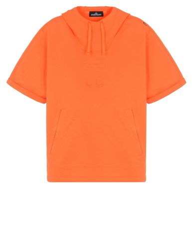 60607 HOODED SHORT SLEEVE SWEATSHIRT CON TELEPORT POCKET E CHAMBER POCKETS (COTTON FLEECE)