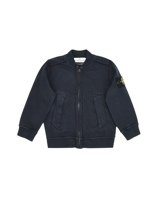 Felpa con zip 60240 STONE ISLAND JUNIOR - 0