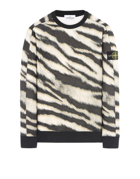 STONE ISLAND Sweatshirt 653E3 WHITE TIGER CAMO