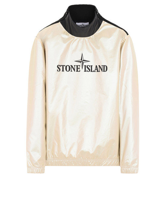 STONE ISLAND 스웻셔츠 646M1 IRIDESCENT COATING TELA WITH REFLEX MAT
