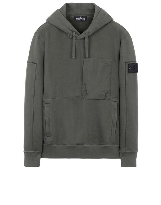 Sweatshirt 60207 UTILITY HOODIE (DIAGONAL WEAVE FELPA) GARMENT DYED STONE ISLAND SHADOW PROJECT - 0