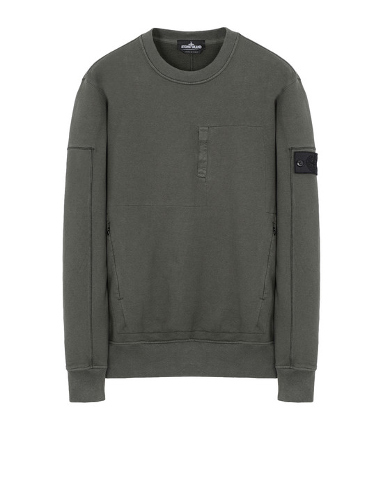 Sweatshirt 60107 DROP POCKET CREWNECK (DIAGONAL WEAVE FELPA) GARMENT DYED STONE ISLAND SHADOW PROJECT - 0
