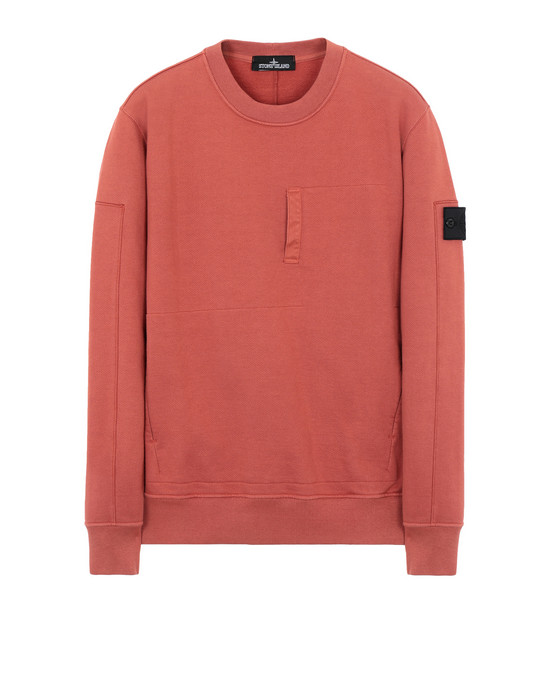 STONE ISLAND SHADOW PROJECT Толстовка 60107 DROP POCKET CREWNECK (DIAGONAL WEAVE FELPA) GARMENT DYED