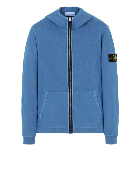 STONE ISLAND Zip sweatshirt 64160 'OLD' DYE TREATMENT