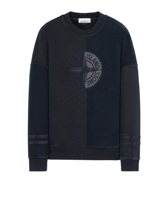 STONE ISLAND 63347 'OLD' DYE TREATMENT  Sweatshirt Man Blue