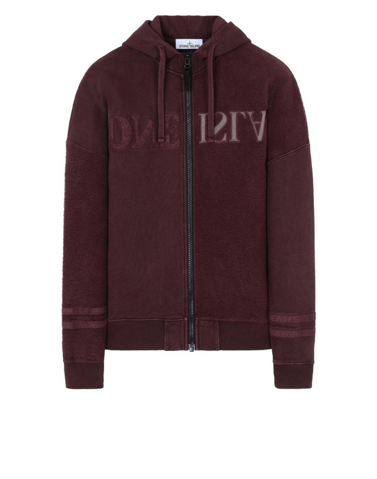 Zip sweatshirt 63447 'OLD' DYE TREATMENT  STONE ISLAND - 0