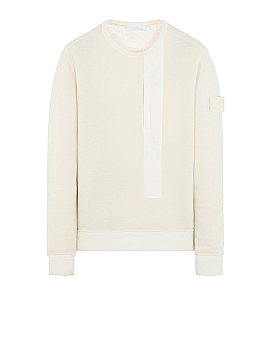 Sold out - STONE ISLAND 650F3 GHOST PIECE Sweatshirt Man Natural White