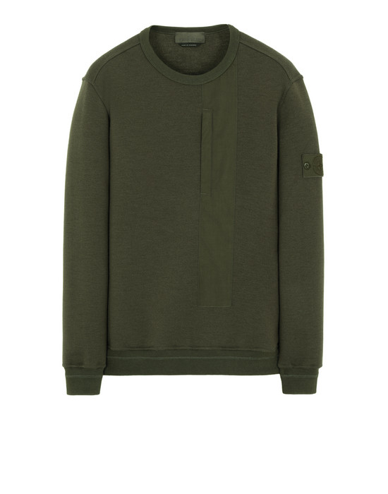 Sold out - STONE ISLAND 650F3 GHOST PIECE Sweatshirt Man Military Green