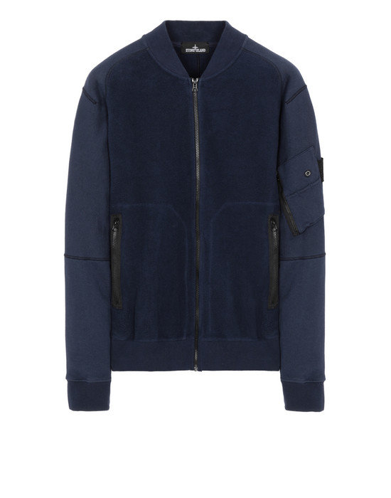 STONE ISLAND SHADOW PROJECT 60406 INVERT BOMBER JACKET Sweatshirt Man Blue