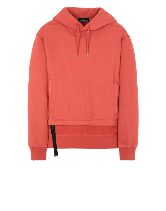 STONE ISLAND SHADOW PROJECT 60206 INVERT HOODIE WITH ZIP-OFF PANEL Sweatshirt Herr Rostrot