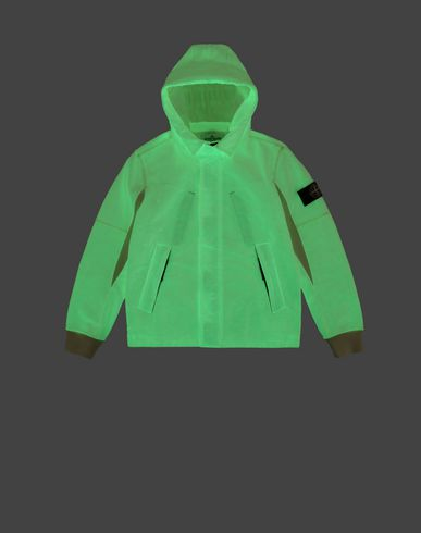 STONE ISLAND JUNIOR Zip sweatshirt Man 62241 GLOW IN THE DARK  f