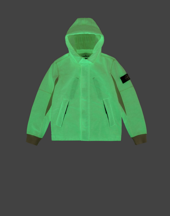 Zip sweatshirt 62241 GLOW IN THE DARK  STONE ISLAND JUNIOR - 0