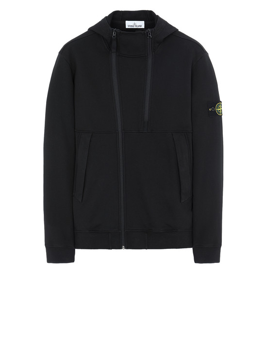 STONE ISLAND 61051 Zip sweatshirt Man Black