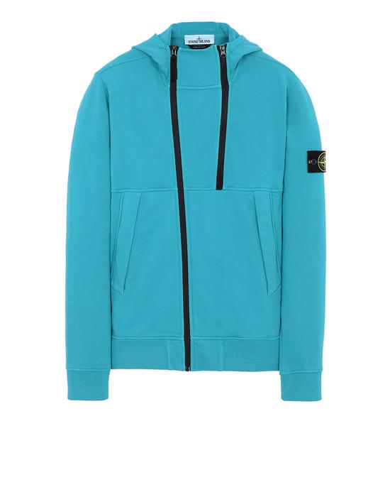 STONE ISLAND 61051 Zip sweatshirt Man Turquoise