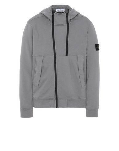 STONE ISLAND 61051 Zip sweatshirt Man Blue Grey EUR 315