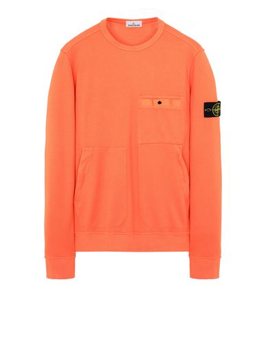 STONE ISLAND 61759 Sweatshirt Man Lobster Red EUR 259