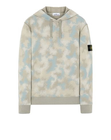 STONE ISLAND 668E5 CAMO DÉVORÉ  Sweatshirt Man Dove Gray EUR 235