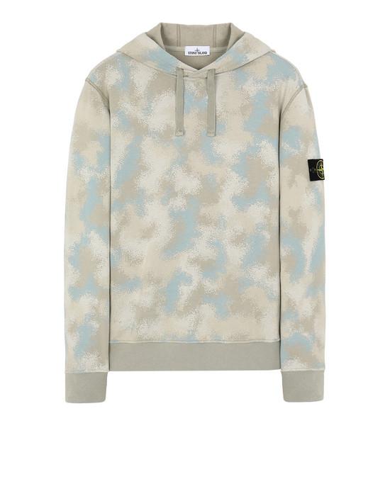 STONE ISLAND 668E5 CAMO DÉVORÉ  Sweatshirt Man Dove Grey