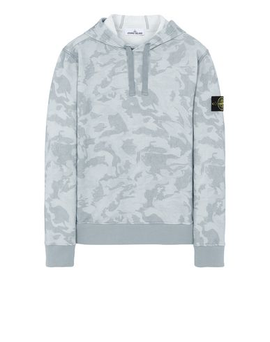 STONE ISLAND 668E4 BIG LOOM CAMO  Sweatshirt Man Sky Blue USD 283