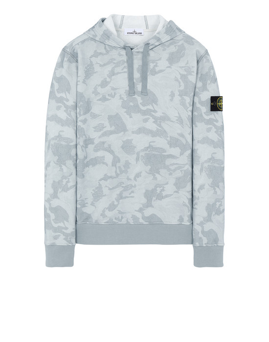 STONE ISLAND 668E4 BIG LOOM CAMO  Sweatshirt Man Pale Blue