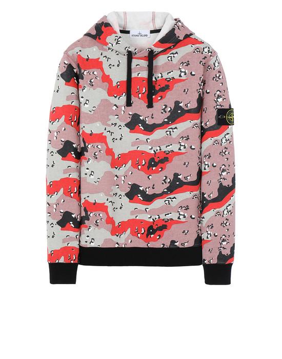 Sweatshirt Man 668E6 DESERT CAMO Front STONE ISLAND
