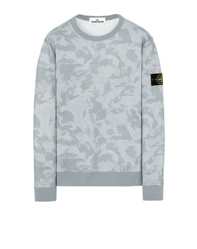 STONE ISLAND 605E4 BIG LOOM CAMO  Sweatshirt Man Sky Blue USD 197