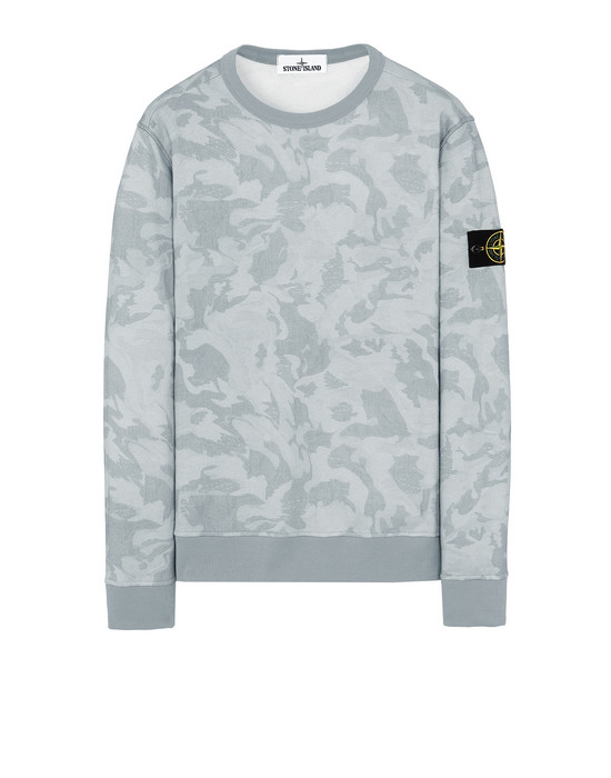 STONE ISLAND 605E4 BIG LOOM CAMO  Sweatshirt Man Pale Blue