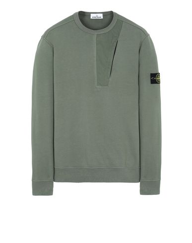 STONE ISLAND 63151 Sweatshirt Man Olive Green USD 204