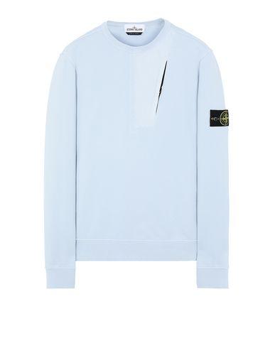 STONE ISLAND 63151 Sweatshirt Man Sky Blue USD 177