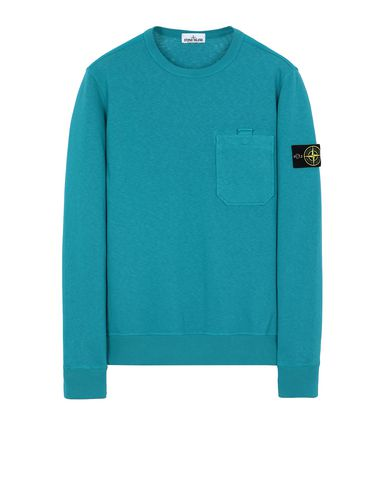 STONE ISLAND 63560 T.CO+OLD Sweatshirt Man Turquoise EUR 229