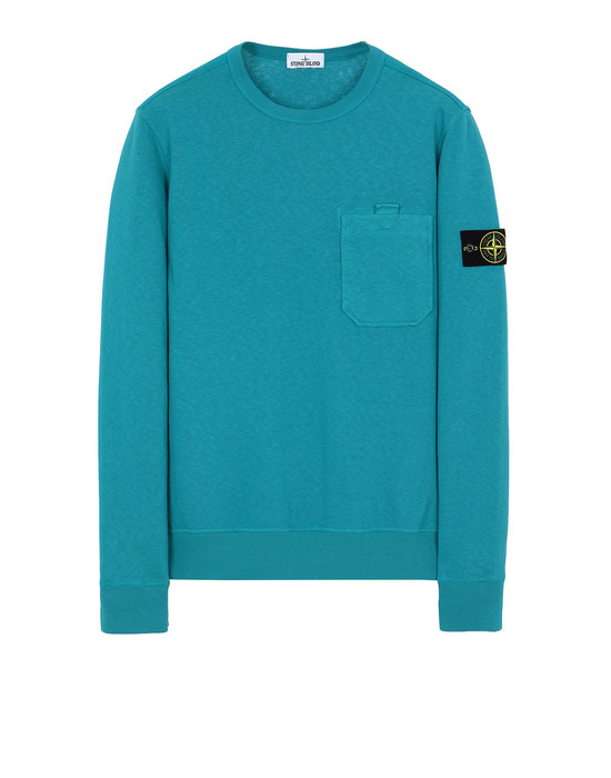 STONE ISLAND 63560 T.CO+OLD Sweatshirt Man Turquoise