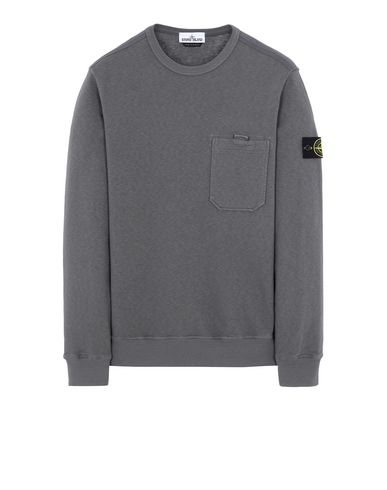 STONE ISLAND 63560 T.CO+OLD Sweatshirt Man Blue Grey USD 209
